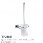 QUBI Wall Mount Toilet Brush Glass