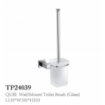 QUBI Wall Mount Toilet Brush Glass