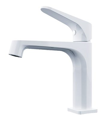 Victor basin mixer white chrome