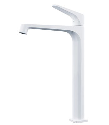 Victor tall basin mixer white chrome