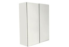 BELLA Pencil Edge Mirror Cabinet 2 Doors Gloss Finish