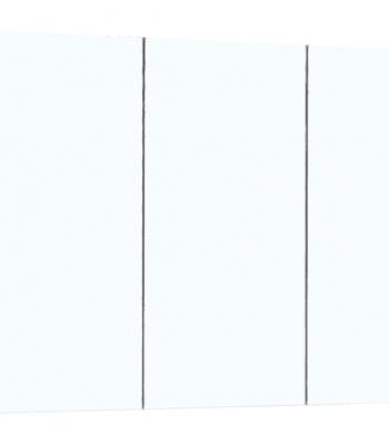 BELLA Pencil Edge Mirror Cabinet Gloss Finish 3 Doors 2 Shelves