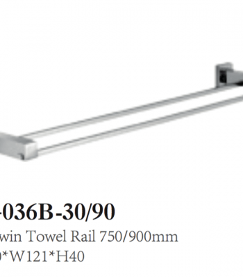 QUBI Double Towel Rail
