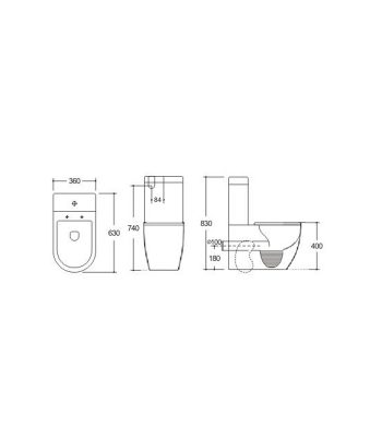 Wall Faced Toilet Suite - KDK023