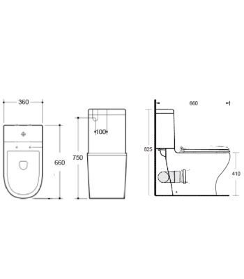 Wall Faced Toilet Suite - KDK018