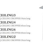 DOCCIA SQ Ceiling Dropper