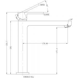 Ecco tall basin mixer