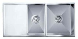 Impact counter top sink double