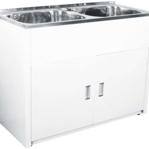 Lavassa Laundry Cabinet Double Bowl 45l