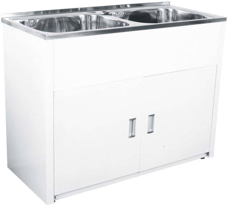 Lavassa Laundry Cabinet Double Bowl 45l