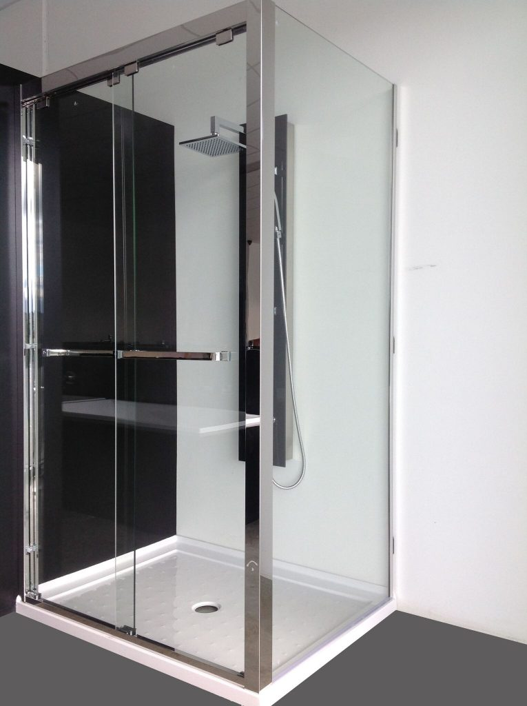 Stainless steel sliding shower screen