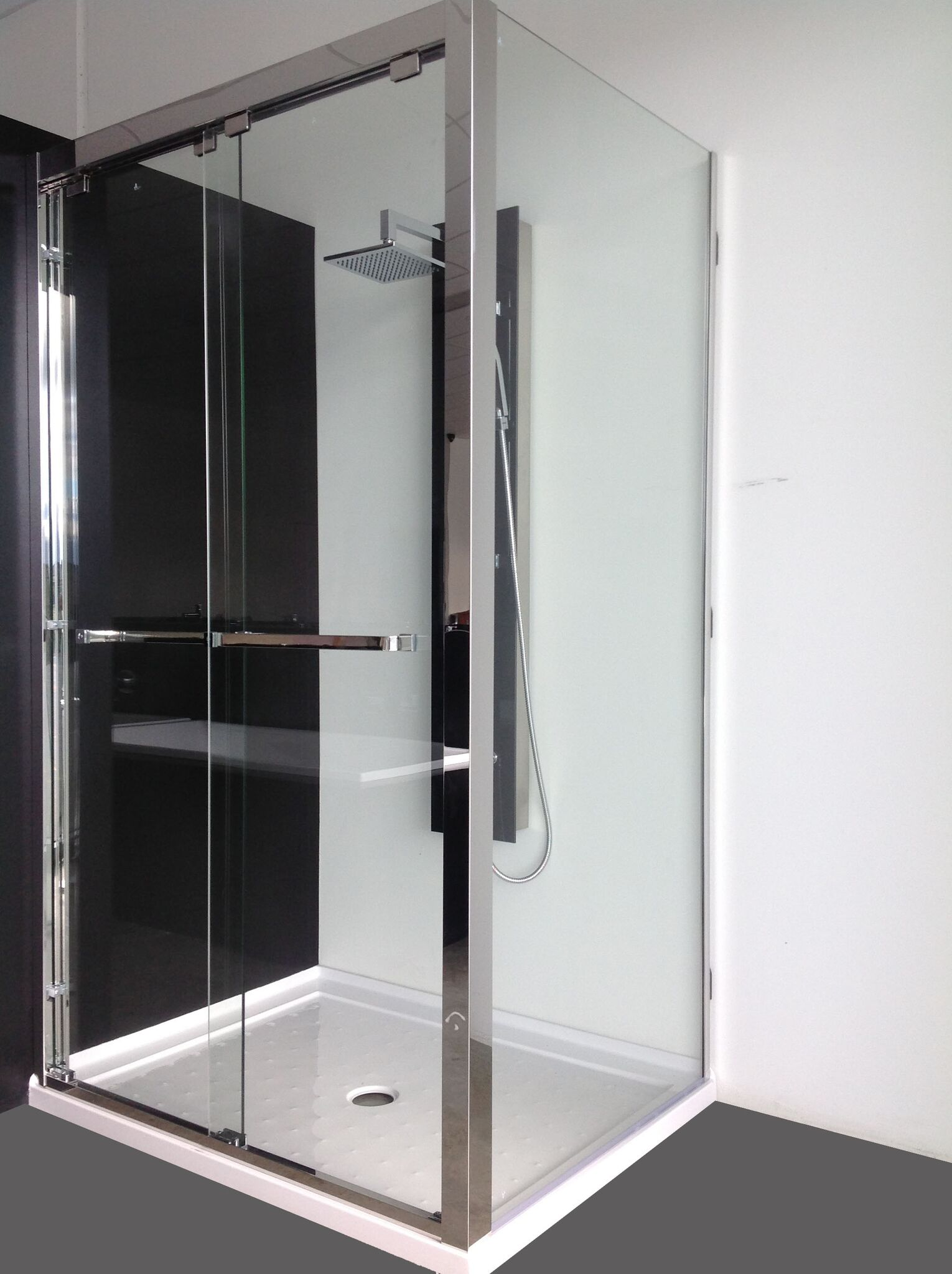 Stainless Steel Sliding Shower Screen Sanyc Bathroom