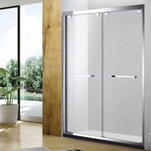 Stainless steel sliding shower screen
