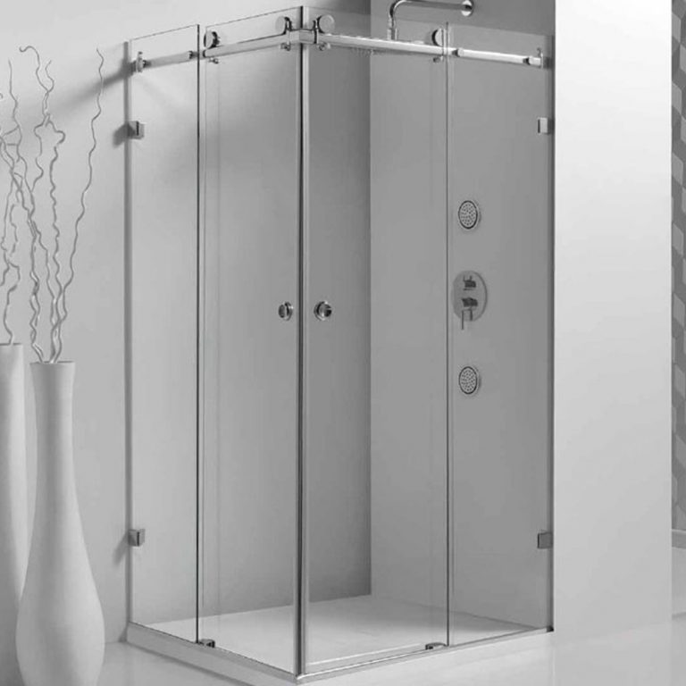 Frameless Corner Sliding Shower Screen