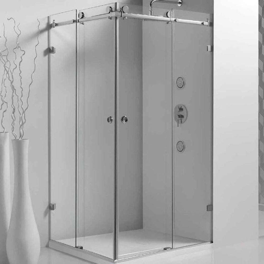 Frameless Corner Sliding Shower Screen Sanyc Bathroom