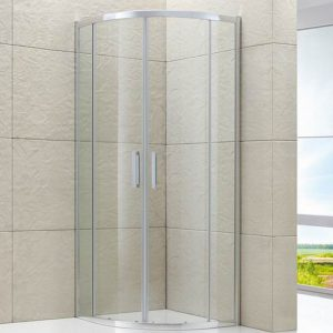 Semi-frameless Round Corner Sliding Shower Screen
