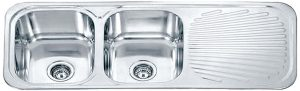 Dante double bowl one with one side drainer