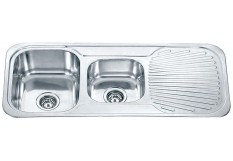 Dante one and 3/4 bowl with one side drainer
