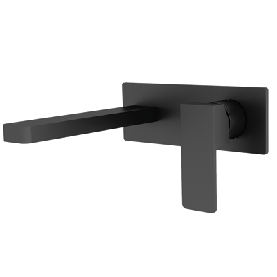Celia Wall Basin Mixer Matte Black