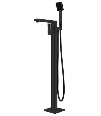 Vibe Black Bath Mixer Freestanding Matte Black
