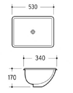 Under Counter Basin - K903A