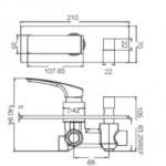 TANCY SHOWER MIXER WITH DIVERTOR